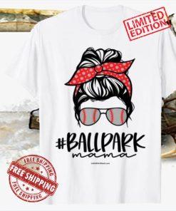 Ball Park Mama, Baseball Softball Mother's Day Mom 2021 Tee Shirt