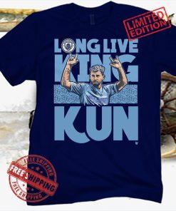 Long Live King Kun T-Shirt, Sergio Aguero's, Manchester City