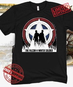 Marvel The Falcon and the Winter Soldier Silhouettes T-Shirt Shirts