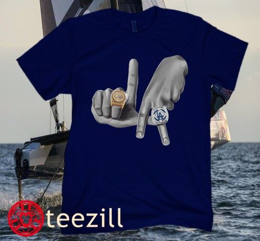 Los Angeles Dodgers Hands x Rings Tee Shirts
