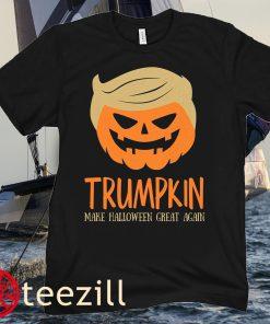 Trumpkin TShirt, Make Halloween Great Again, Halloween Shirt, Trumpkin Halloween T-Shirt