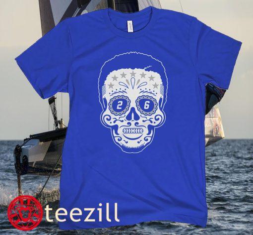 Saquon Barkley Sugar Skull Halloween Shirt New York Giants