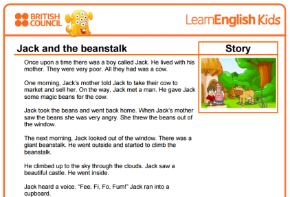 Jack And The Beanstalk text