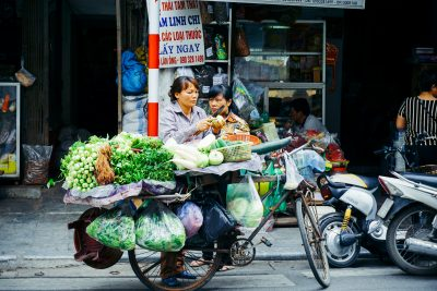 Vegetable seller in Vietnam