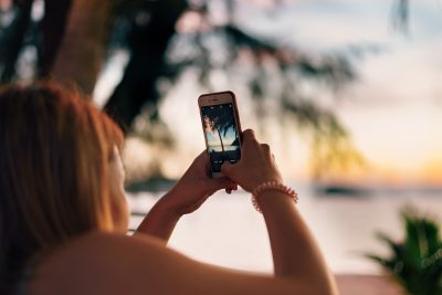 Taking a selfie on the beach on Koh Chang