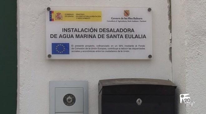 "06/05 De Sans: ""La dessaladora es recepcionarà en dies"""