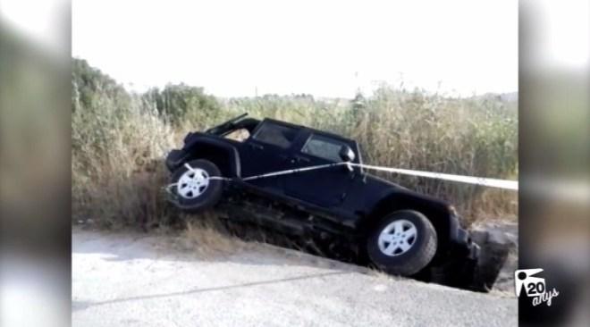 13/07 Un Jeep cau a ses Feixes de Vila