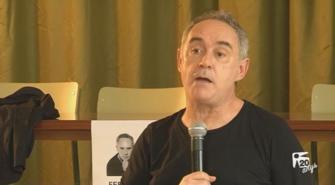 18/10 Ferran Adrià visita l'IES Isidor Macabich de Vila