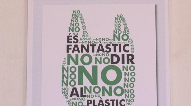 25/06 L'Escola d'Arts i Oficis elabora el logo del la campanya 'És fantàstic dir no al plàstic'