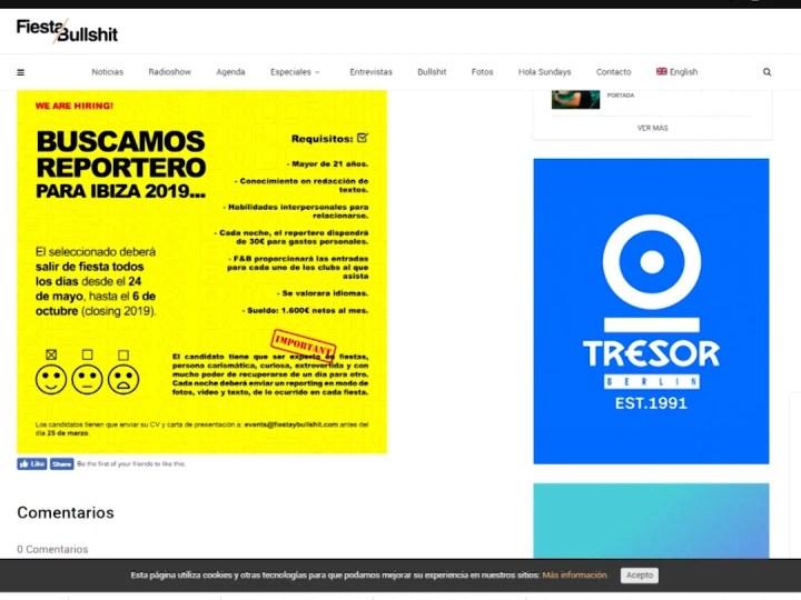 22/02 Sortir de festa de Maig a Octubre per 1.600 euros al mes