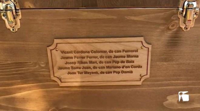 11/03/2019 Les restes dels afusellats pels feixistes durant la Guerra Civil a Formentera han estat dipositades a un nínxol del cementeri de Sant Ferran