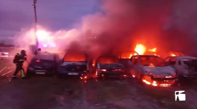 20/11/2019 Espectacular incendi al dipòsit de vehícles de la Policia local de Sant Josep