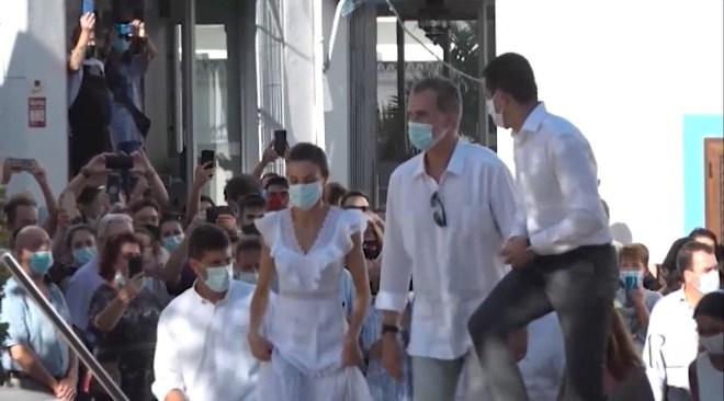 17/08/2020 Sant Antoni, segona aturada dels Reis d'Espanya