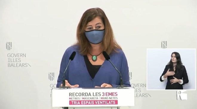 27/11/2020 Cinc nivells de restriccions a Balears segons la situació epidemiològica