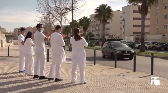 03/02/2021 Els sanitaris d'Eivissa es mobilitzen per un plus per residència just