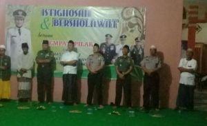 Istiqhosa yang dilaksanakan di kantor camat Kotaanyar Kabupaten Probolinggo. FOTO : ASL