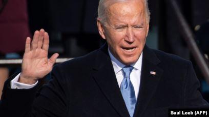 Presiden AS Joe Biden dilantik sebagai Presiden AS ke-46 pada 20 Januari 2021, di Capitol AS di Washington, DC. (Foto: AFP/Saul Loeb)