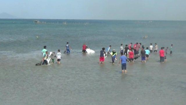 Pemda Kolaka Bersih-Bersih Pantai dan Laut
