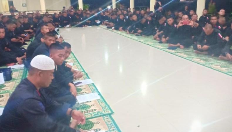Brimob Polda Sultra Gelar Zikir dan Doa Bersama Sebelum Pengamanan Pemilu 2019
