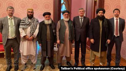 Delegasi Taliban di Moskow, Rusia, 27 Januari 2021.