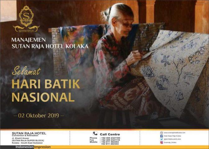 Iklan sutan raja kolaka hari batik