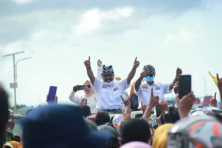Calon Bupati dan Wakil Bupati Kabupaten Wakatobi H. Arhawi dan H. Hardin La Omo (HALO) dalam acara road show kampanye belum lama ini.