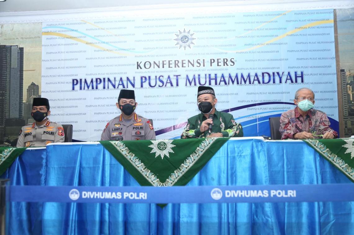 Kapolri Jendral Listyo Sigit Prabowo saat kunjungan ke PP Muhammadiyah