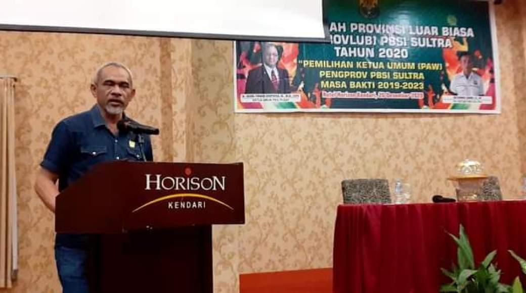 Sekertaris Umum Komite Olahraga Nasional Indonesia (KONI) Provinsi Sulawesi Tenggara (Sultra), Tahir Lakimi