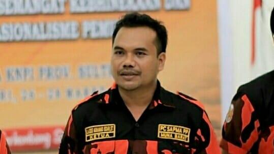 Ketua Umum SAPMA PP Mubar, La Ode Muhammad Isdar, ST