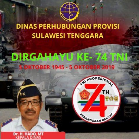 Iklan Dishub untuk HUT TNI ke 73
