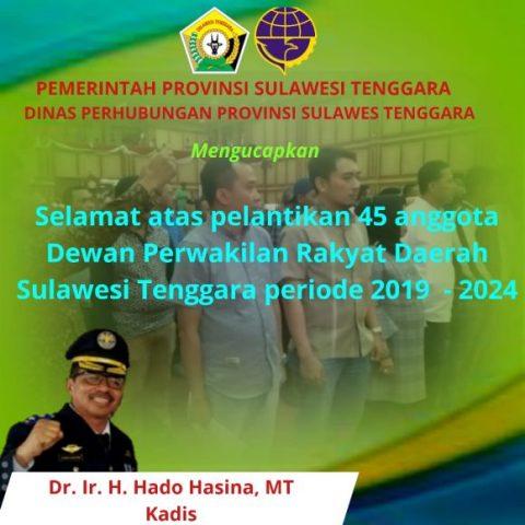 Iklan Ucapat pelantikan DPRD Sultra HADO