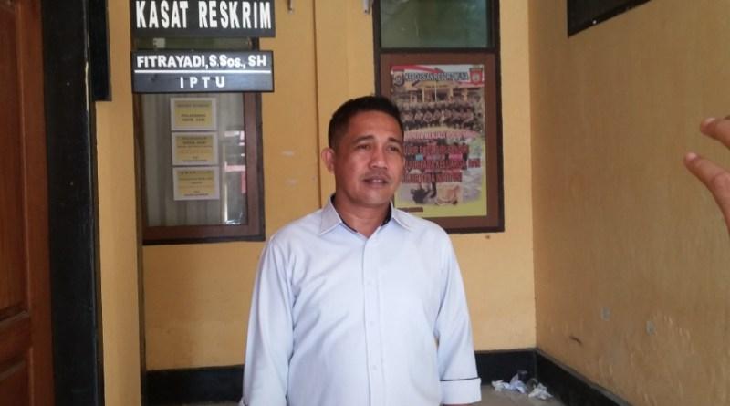 Kasat Reskrim Polres Muna Iptu Fitrayadi FOTO : LA ODE AWALUDDIN