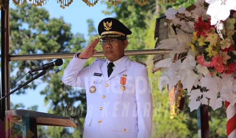 Wali Kota Kendari Pimpin Upacara