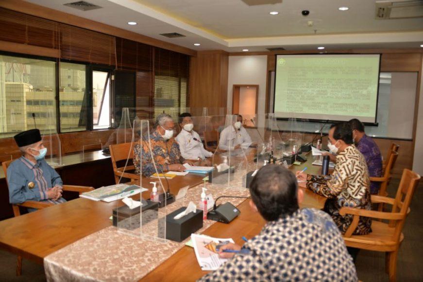 Ali Mazi melanjutkan agenda kunjungan kerjanya (Kunker) di Jakarta dengan berkunjung ke Kementerian Perhubungan,