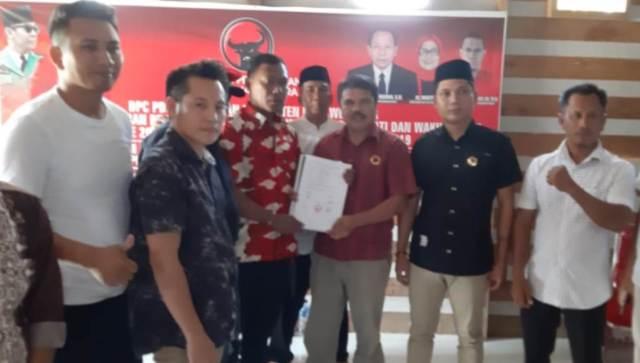 Syahrul ST Mendaftar Balon Bupati Konut di PDIP