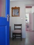 Through the blue front door