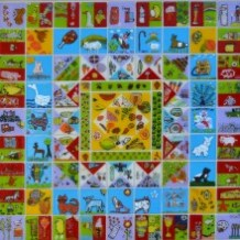 Glass Quilt - Linda Norris and Narbeth C P School