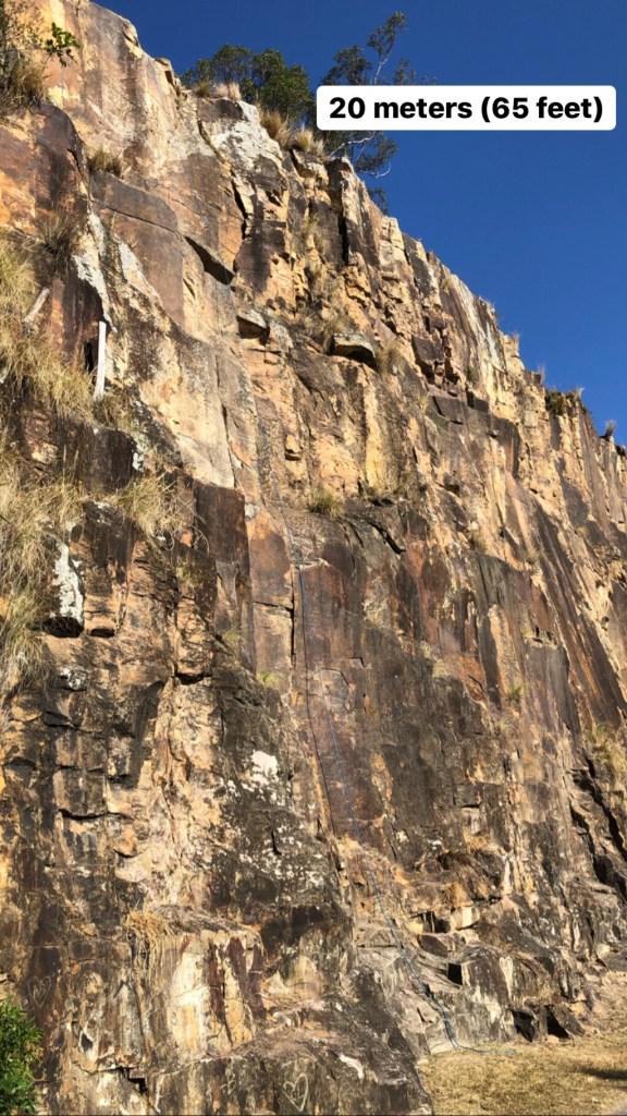20 meter rock wall