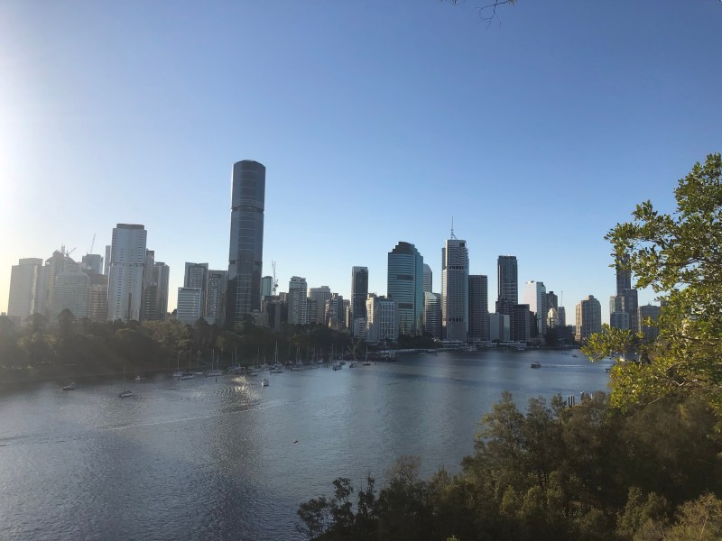 View of brisbane and river