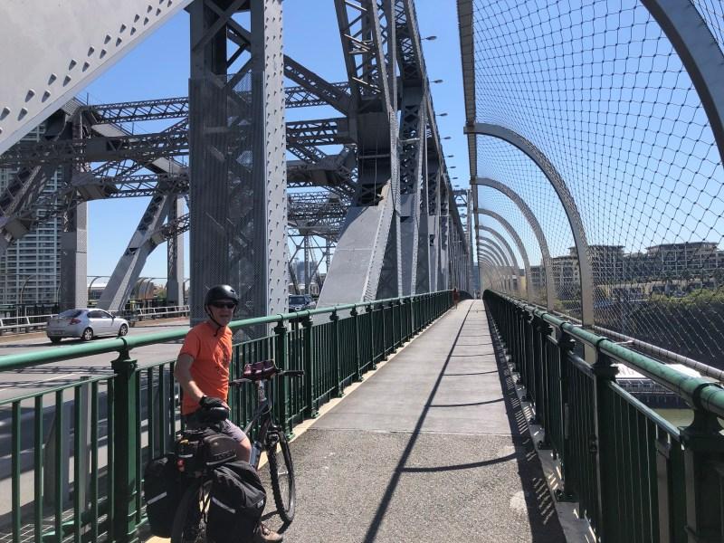 Bridge bike path