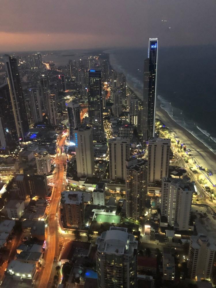 nighttime city lights