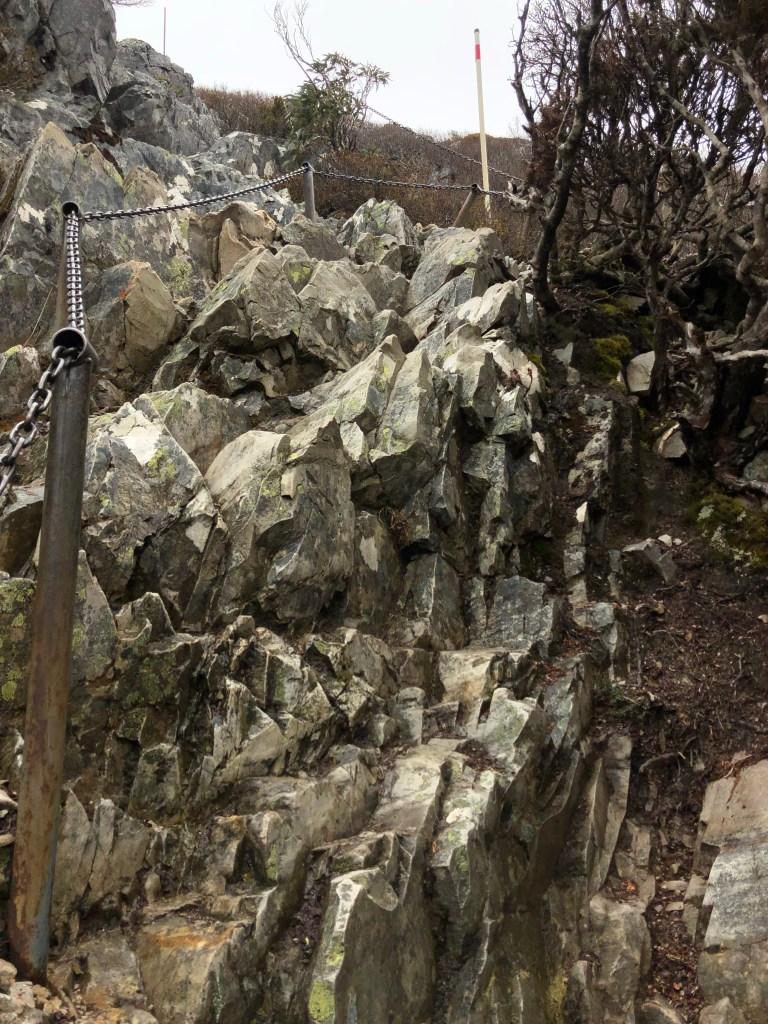 jagged rock trail