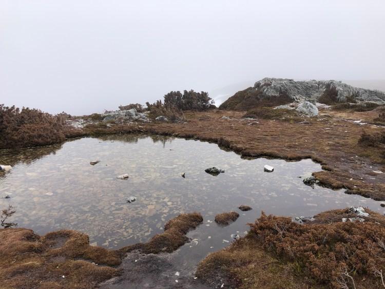 still water on mountain