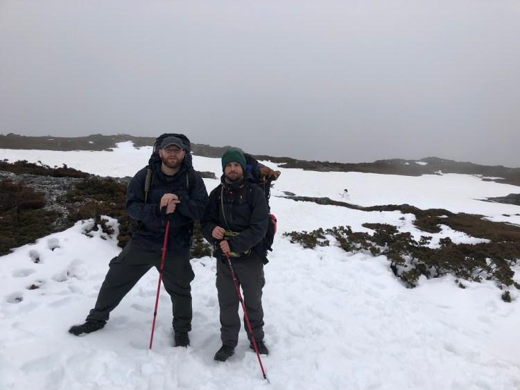 two men on a mountain