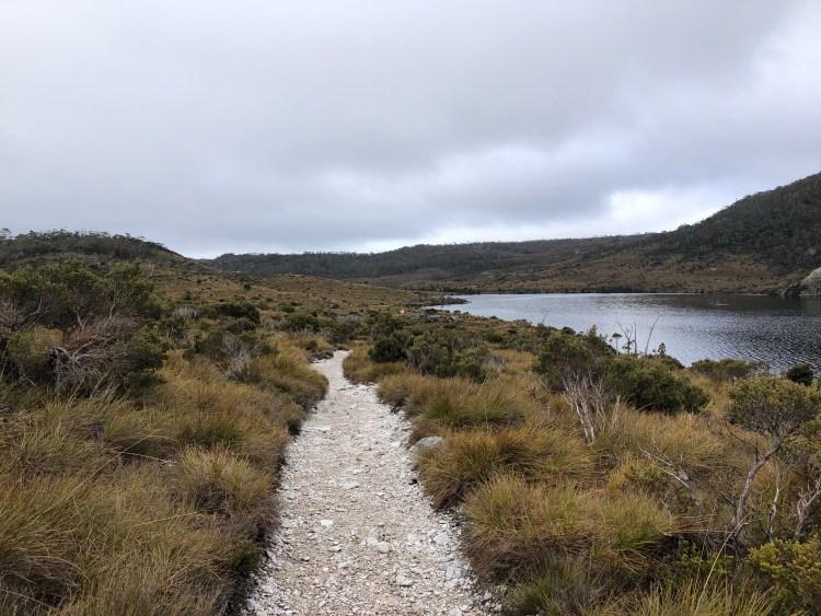 hiking trail by lake