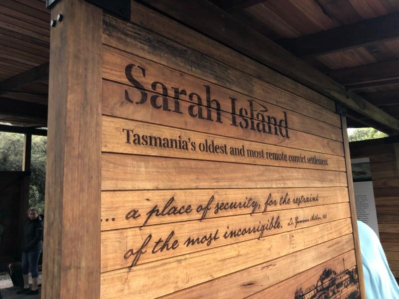 Sarah Island sign