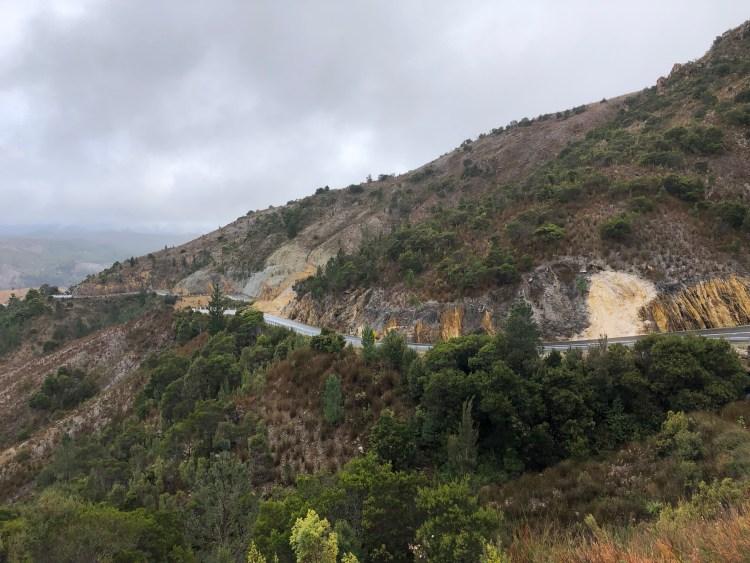 road around mountain