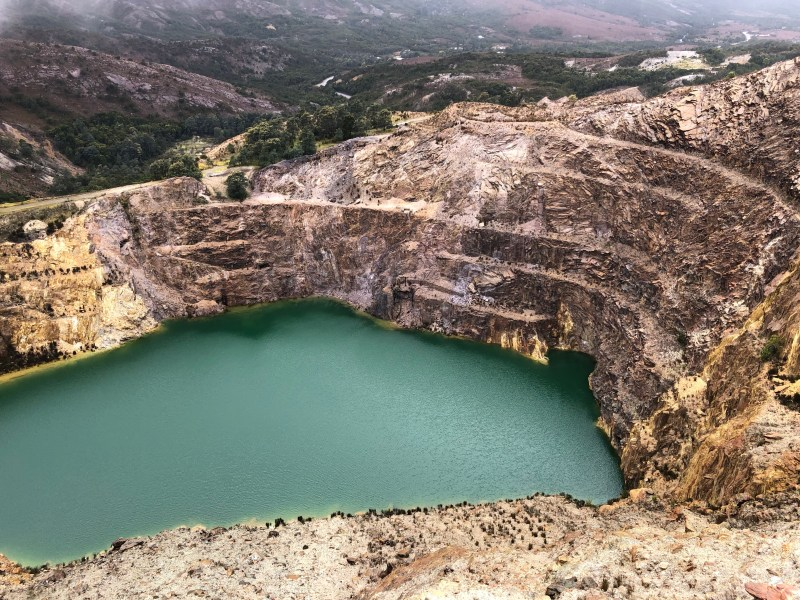 water in quarry