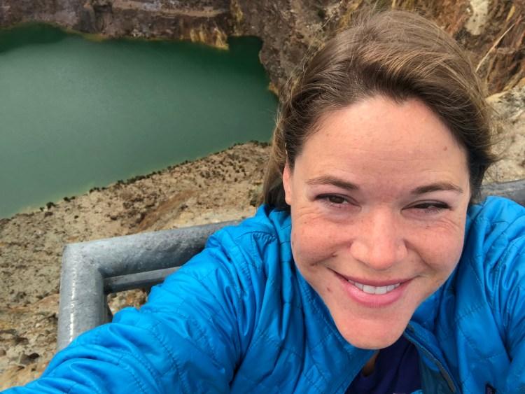 woman near quarry