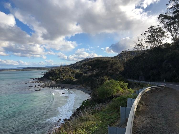 Road by ocean